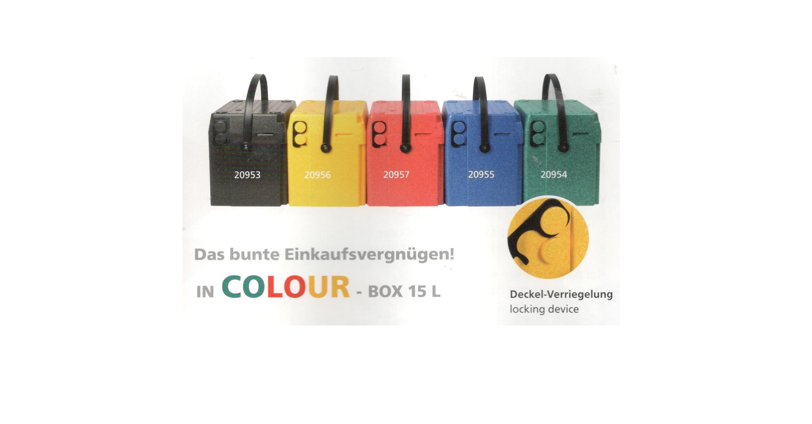 Isolerende box carry kleuren